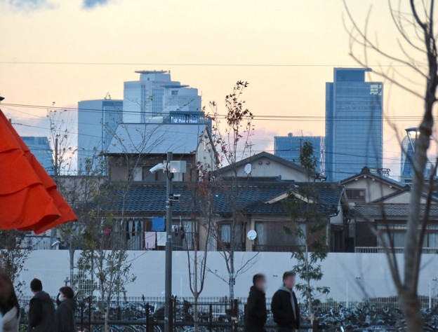 ららぽーと名古屋みなとアクルス西側のみどりの大広場から見えた名駅ビル群 - 1