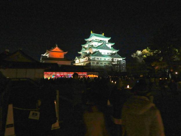 名古屋城×NAKED NIGHT CASTLE OWARI EDO FANTASIA 2018:本丸御殿の巨大横長プロジェクション・マッピング - 1