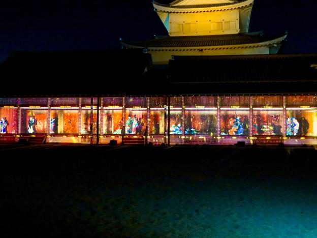 名古屋城×NAKED NIGHT CASTLE OWARI EDO FANTASIA 2018:本丸御殿の巨大横長プロジェクション・マッピング - 12