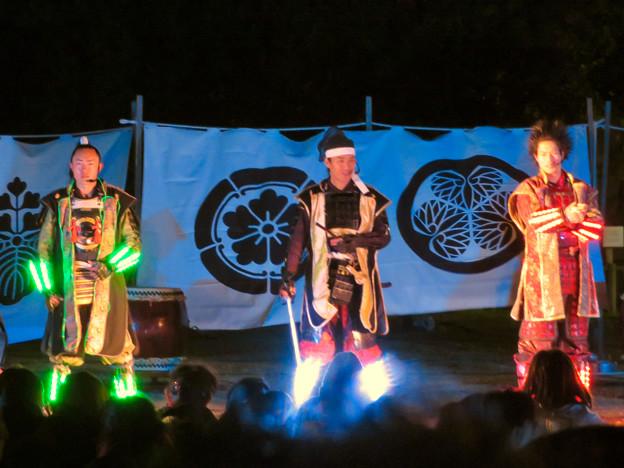 名古屋城×NAKED NIGHT CASTLE OWARI EDO FANTASIA 2018 No - 23:蛍光武具を付けた名古屋おもてなし武将隊のステージ