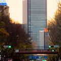矢場町交差点から夕焼けバックに見えたグローバルゲート - 4