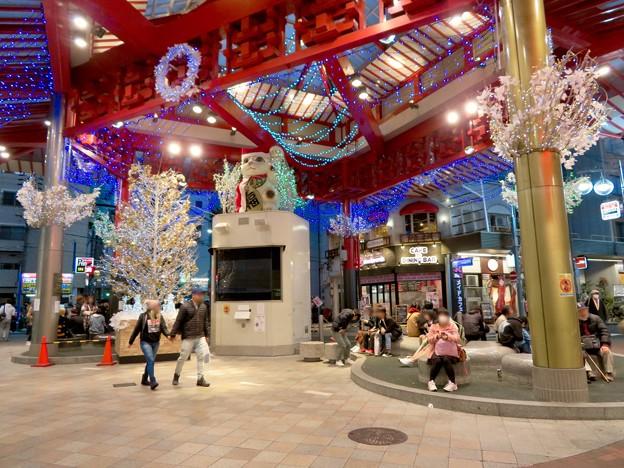 大須商店街:招き猫広場のクリスマスイルミネーション 2018 No - 3