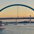 名古屋港ガーデンふ頭:JETTY前から見た対岸の景色 - 1(ポートブリッジ)