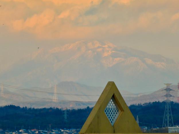 雪を頂いてた御嶽山(2018年12月)- 3