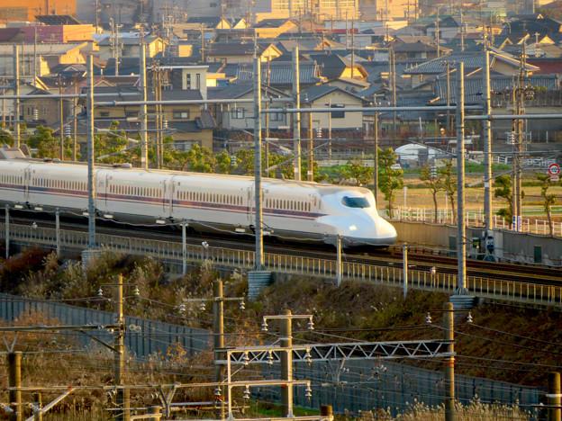 清洲城天守閣から見た景色:新幹線