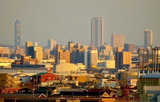 清洲城天守閣から見た景色:東山スカイタワー - 1
