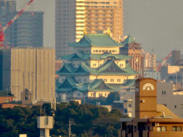 清洲城天守閣から見た景色:名古屋城と名古屋市役所 - 4