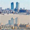 清洲城天守閣から見た景色:2012年と2019年の名駅周辺比較 - 1