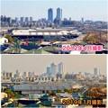 清洲城天守閣から見た景色:2012年と2019年の名駅周辺比較 - 7