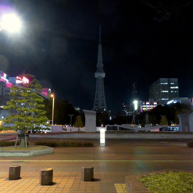 改修工事のためイルミネーションが消えてた名古屋テレビ塔(2019年1月13日) - 8