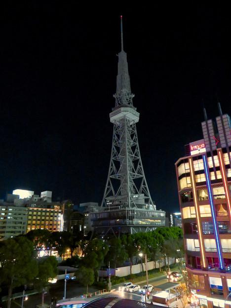 改修工事のためイルミネーションが消えてた名古屋テレビ塔(2019年1月13日) - 17