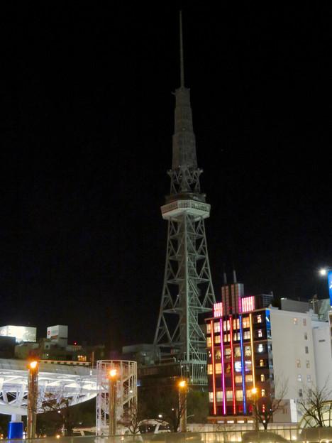 改修工事のためイルミネーションが消えてた名古屋テレビ塔(2019年1月13日) - 22