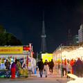名古屋中国春節祭 2019(夜間)No - 8:改修工事でイルミネーションが点灯してない名古屋テレビ塔