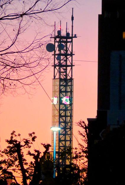 大須商店街:大須観音手前から見た中京テレビ本社ビルの電波塔 - 2