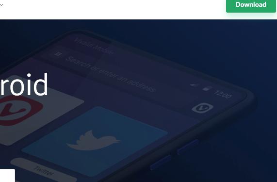 Android版Vivaldiのアナウンスメール登録ページ(2019年2月)- 3