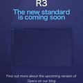 新しいOpera Developer「R3」のリリース告知ページ