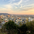 円福寺の展望台から見た夕焼け - 1