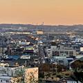 円福寺の展望台から見た夕焼け - 3