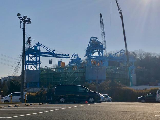 建設中のリニア非常口工事現場(2019年2月18日) - 1