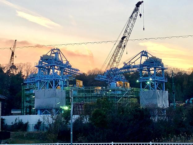 建設中のリニア非常口工事現場(2019年2月18日) - 2
