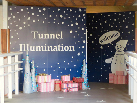 花フェスタ記念公園:トンネルギャラリー「トンネル・イルミネーション 2019」 - 2