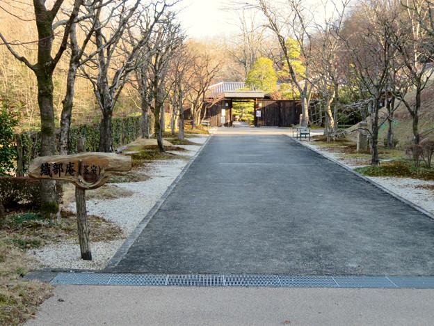 オフシーズン(2月)の花フェスタ記念公園 - 75:茶室「織部庵」入り口