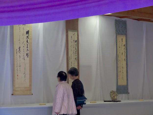 梅が満開だった大縣神社 2019 - 13:八代六郎書展