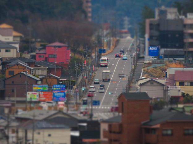 円福寺の展望台から見た高蔵寺ニュータウンへと続く坂道 - 3:ミニチュアライズ