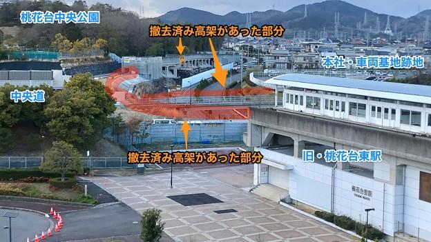 桃花台線撤去工事:2019年3月時点で撤去完了した部分 - 6