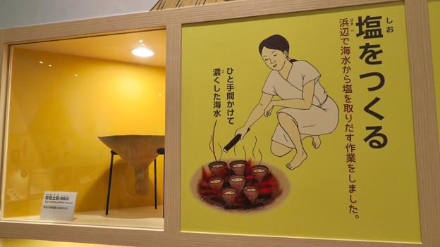 しだみ古墳群ミュージアム「SHIDAMU(しだみゅー)」展示室 No- 73:塩作りの説明