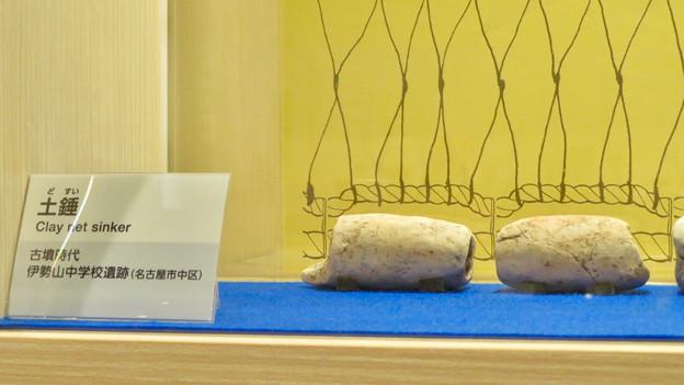 しだみ古墳群ミュージアム「SHIDAMU(しだみゅー)」展示室 No- 76:漁網の先に付けられた重り「土垂」
