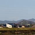 Photos: 木曽川沿いから見えた、たぶん御嶽山 - 1