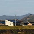 Photos: 木曽川沿いから見えた、たぶん御嶽山 - 3