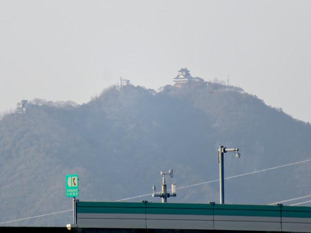木曽川沿いから見えた岐阜城・金華山 - 2