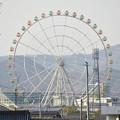 木曽川沿いから見た木曽三川公園の大観覧車「オアシスホイール」 - 4
