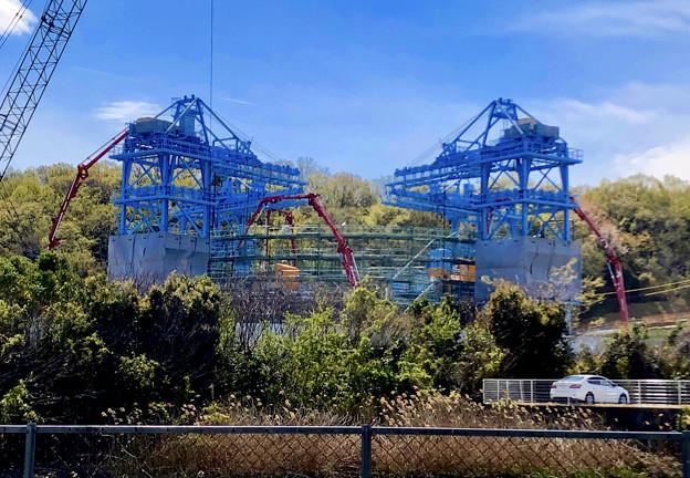 建設中のリニア非常口工事現場(2019年4月11日) - 2