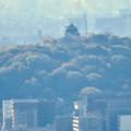 Photos: 尾張戸神社の展望台から見た景色 - 13:小牧山と小牧城