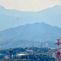 Photos: 尾張戸神社の展望台から見た景色 - 20:スカイステージ33越しに見えた岐阜城・金華山
