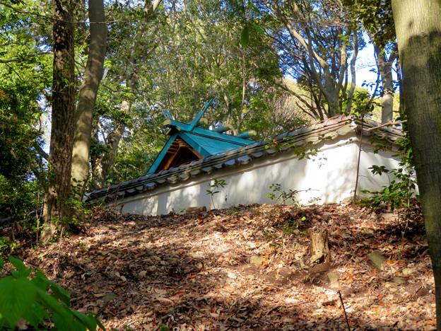 尾張戸神社古墳 - 5:古墳の上にある神社本殿