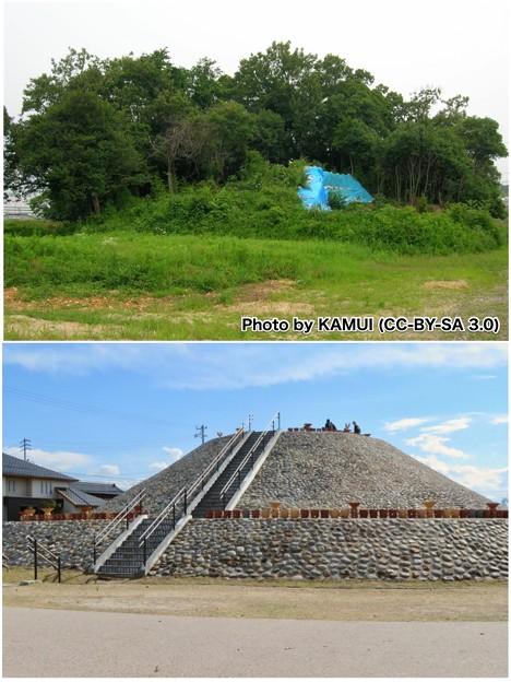 2008年と2019年の志段味大塚古墳 - 2