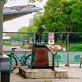 リニューアル工事中の久屋大通公園(2019年4月21日) - 18:サーブ像と栄バスターミナル