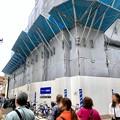 中公設市場跡地に建設中の建物(2019年4月21日) - 2