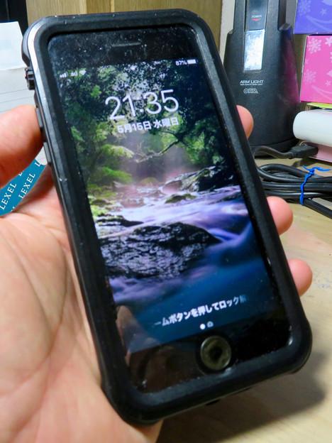 KYOKAのiPhone 7&8用の格安防水・耐衝撃ケース No - 35:正面
