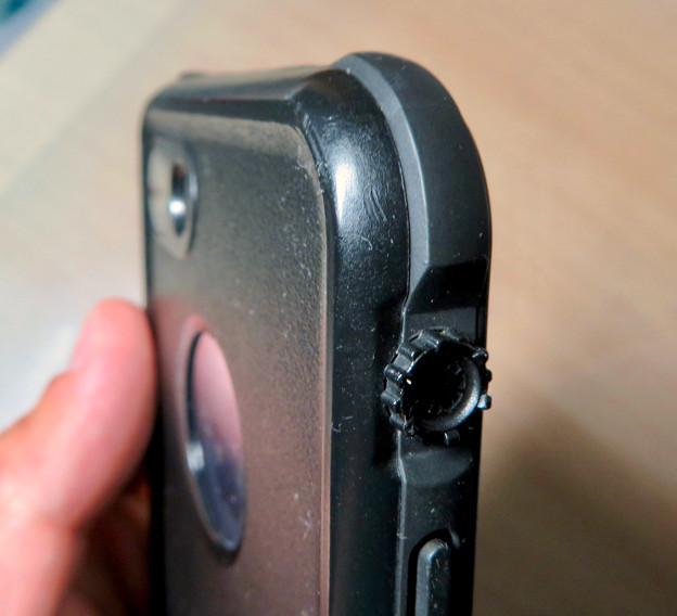 KYOKAのiPhone 7&8用の格安防水・耐衝撃ケース No - 40:マナースイッチ部分