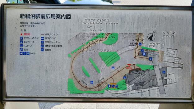 名鉄新鵜沼駅 - 8:駅前広場案内図