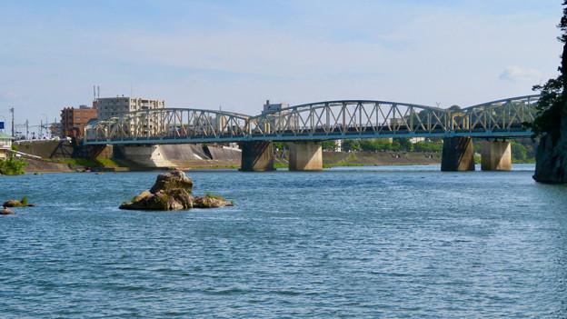 木曽川沿いから見た犬山橋 - 2