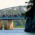 木曽川沿いから見た犬山橋 - 3