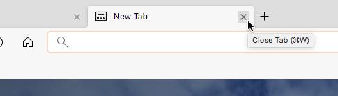 Microsoft Edge for Mac(Canaryビルド 76.0.161.0)- 17:設定で追加したホームボタンと右側のタブ閉じるボタン