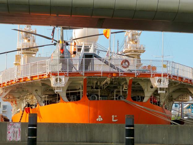 南極観測船ふじの後部