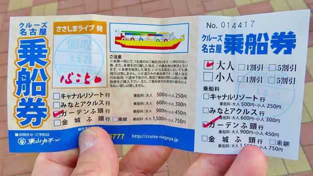クルーズ名古屋(2019年5月)No - 2:乗船券